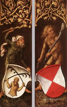Sylvan Men with Heraldic Shields Albrecht Durer Oil Paintings